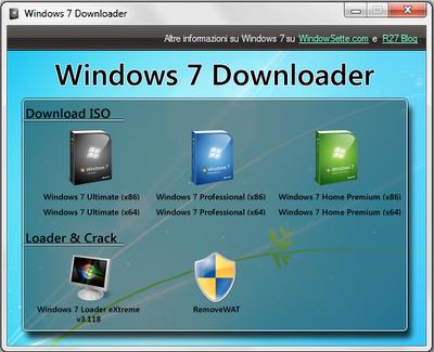 windows7downloader1 Scaricare i DVD e Crack per Windows 7 con Windows 7 Downloader