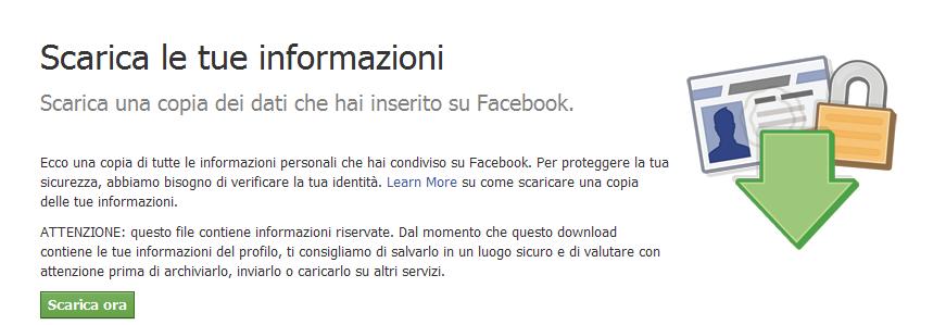 Facebook Scarica le tue informazioni Come salvare tutte le foto, i video e le informazioni del proprio account Facebook