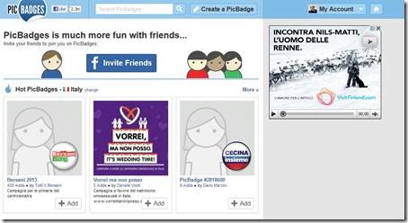picbadge1 thumb Creare Badges da Aggiungere in Siti Web, Facebook, Twitter con PicBadges
