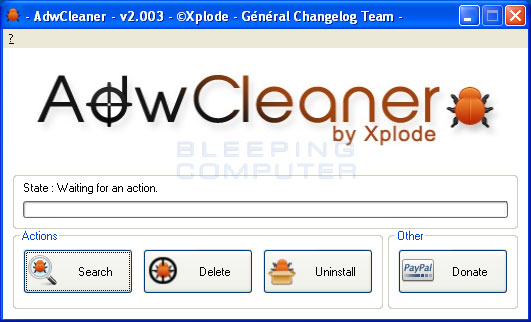 Browser Hijacking Remover Tools AdwCleaner