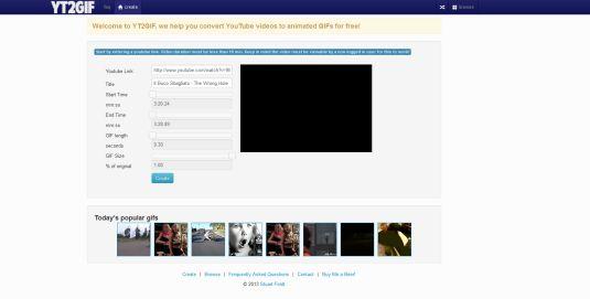 yt2gif Come Convertire un Video Youtbue in un Immagine GIF animata con Yt2gif