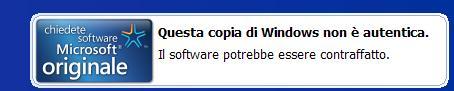 immaginehhgw5 Come Eliminare avviso: Il software potrebbe essere contraffatto   Windows Xp, Vista, 7