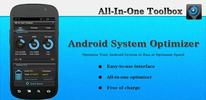 All In One Toolbox Ottimizzare la velocità dei Dispositivi Android con All In One Toolbox