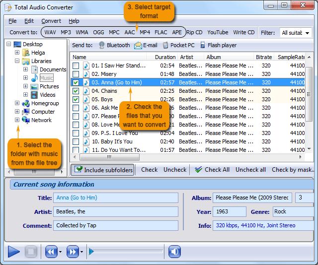TACmain Come Convertire le tracce audio CDA in file MP3 con Total Audio Converter