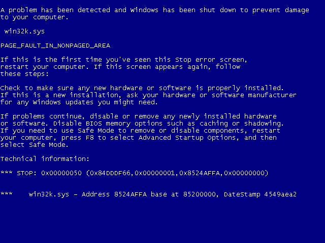 bsod Risoluzione al problema STOP 0X000000F4 Schermata della morte (blue screen of death) BSoD Windows