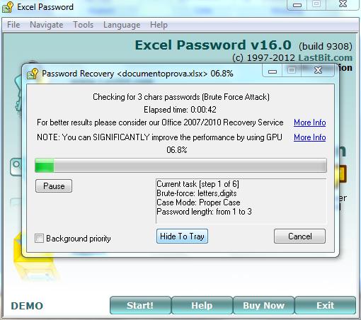 how to break the password in excel macro