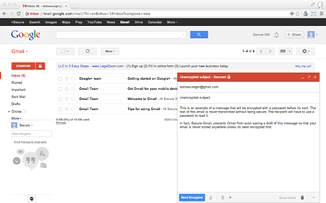 unnamed1 Come inviare Mail Criptate su Gmail conSecureGmail