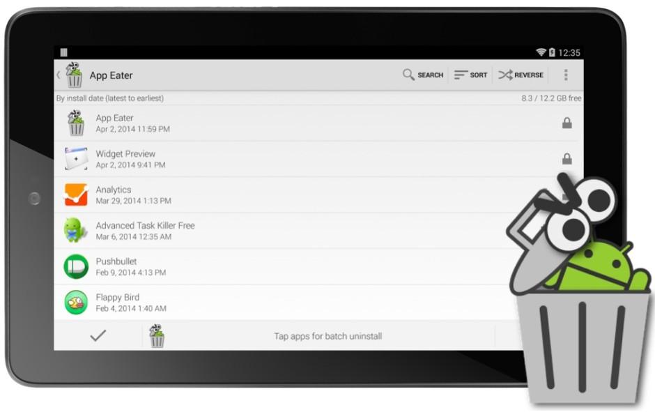App Eater Disinstallare più App Android Contemporaneamente con App Eater