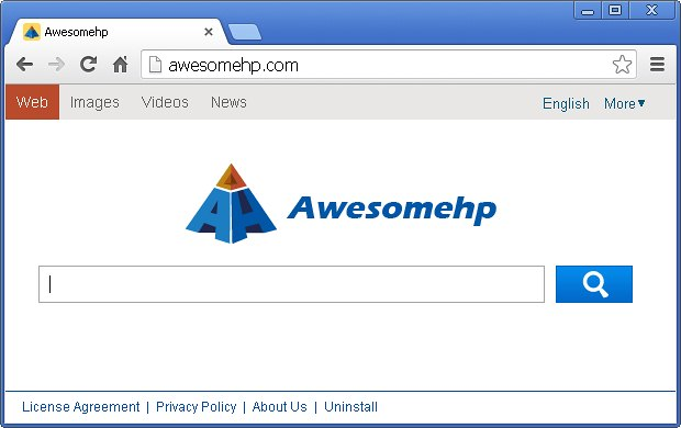 awesomehp com screenshot Come Rimuovere Velocemente Awesomehp dal proprio Computer