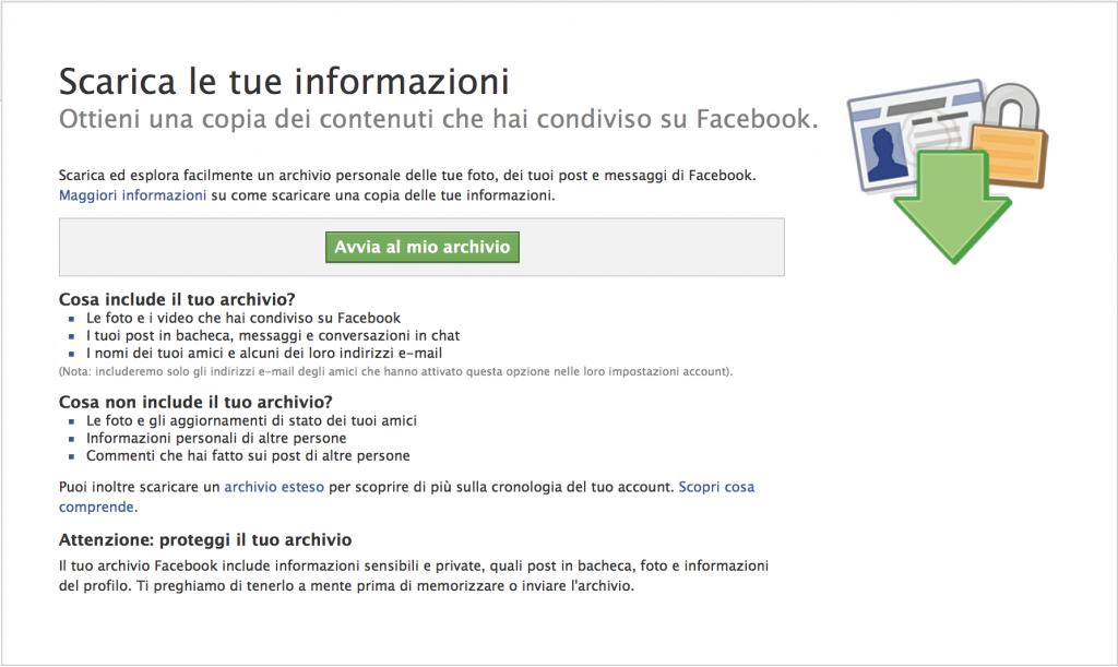 facebookdati Come Salvare una Copia di Tutti i Propri Dati Facebook