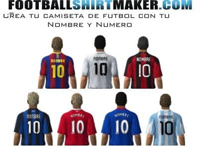 101.1793.338.1a.500 Creare Magliette da Calcio Personalizzate Gratis Online con Football shirt maker