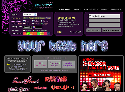 5744084621 5b2b3c468a Creare scritte glitterate gratis online con Glotwtext