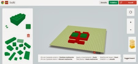 lego Giocare con i Lego online in 3D con Build With Chrome