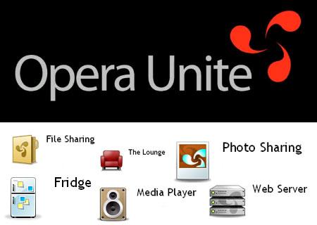 opera unite logo icons Trasformare il proprio computer in un Web Server con Opera Unite