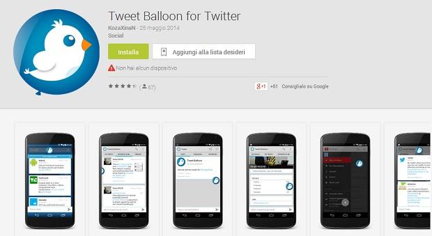 Tweet Balloon Twitter