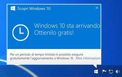 windows10 upgrade Come Rimuovere icona richiesta Aggiornamento a Windows 10