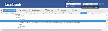 facebook04 Come Rendere visibili le password inserite nel box password dei vari form