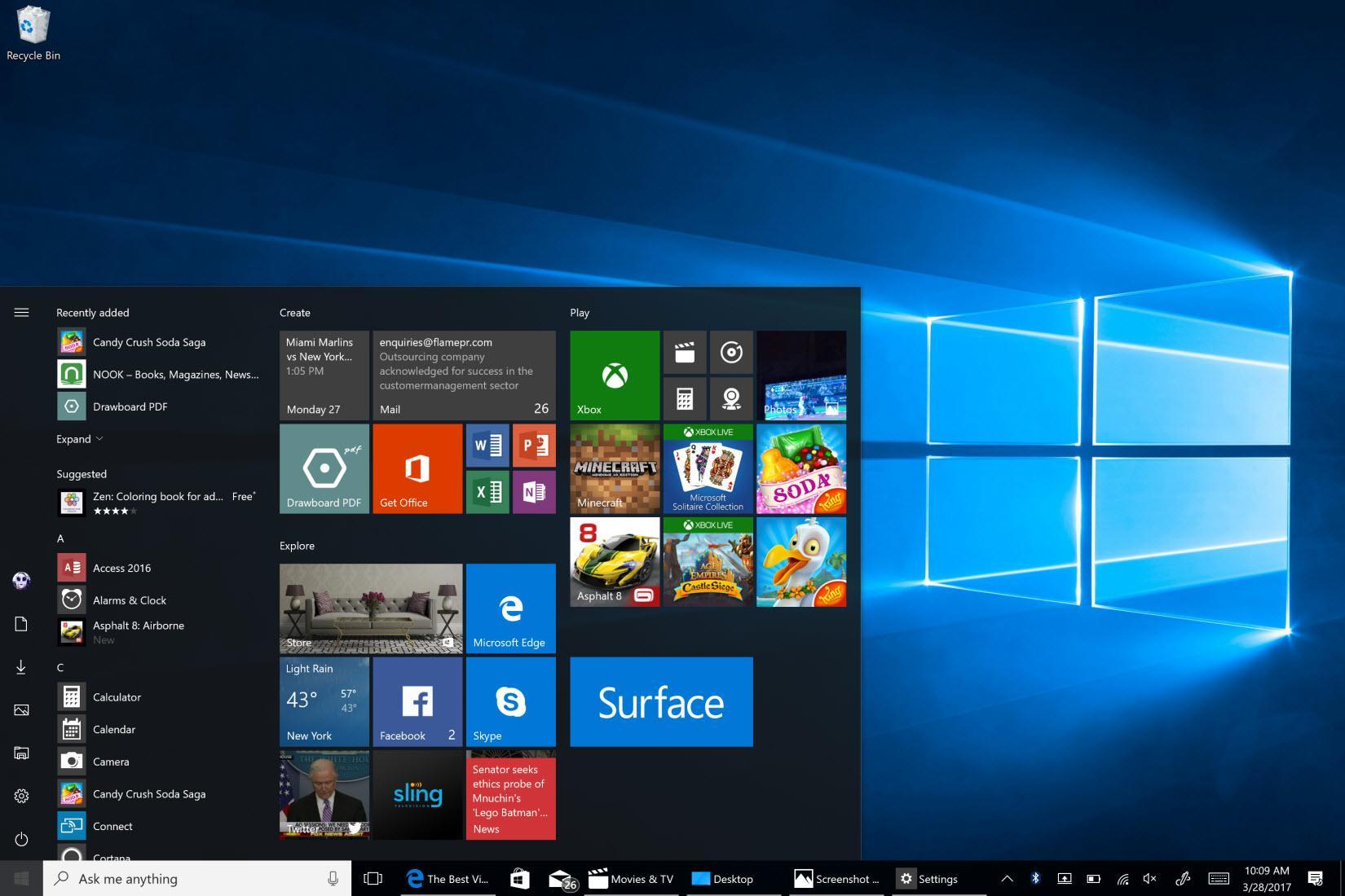 537201 microsoft windows 10 creators update start screen Come diminuire l'utilizzo delle risorse del PC Windows GUIDA COMPLETA